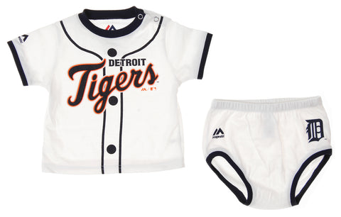 Majestic MLB Infants Detroit Tigers Player Tee & Bottom Set, White
