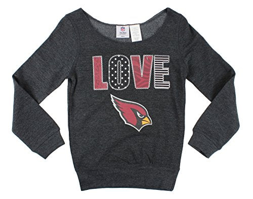 Arizona Cardinals NFL Football Youth Girls Love Fleece Sweatshirt, Dark Grey