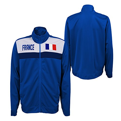 Outerstuff International Soccer Men's France Track Jacket, Blue