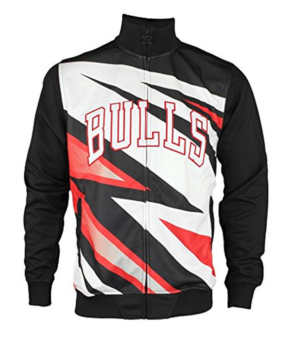 Zipway NBA Men's Chicago Bulls Motocross Full Zip Jacket