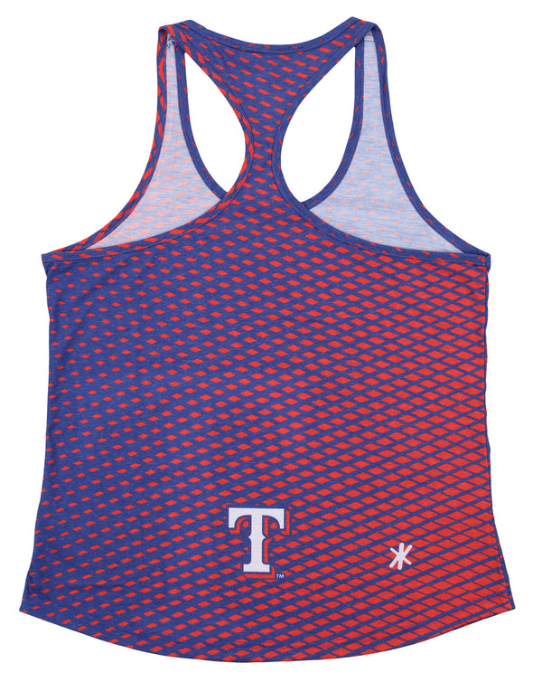 Forever Collectibles MLB Women's Texas Rangers Diamond Racerback Tank