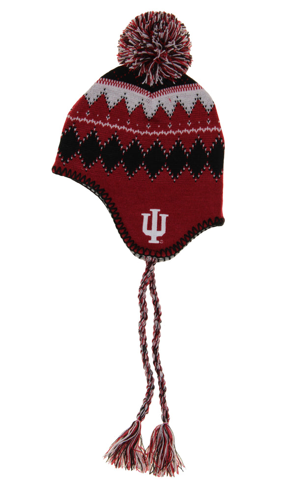 Outerstuff NCAA Youth Indiana Hoosiers Cuff Knit W/Pom, One Size Fits Most