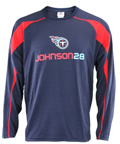 NFL Men's Tennessee Titans Chris Johnson #28 Performance Shirt, Navy