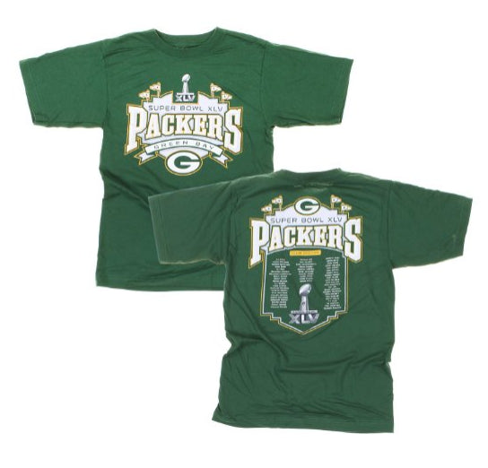 Reebok NFL Men's Green Bay Packers Super Bowl XLV T-Shirt, Green