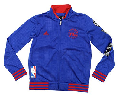 Adidas NBA Youth Boys Philadelphia 76ers On Court Jacket, Blue