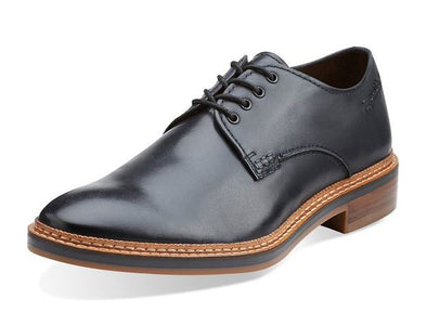 Clarks Men's Grimsby Walk Leather Oxfords Shoes - Black and Brown