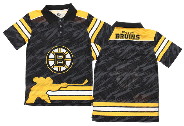 NHL Youth Boston Bruins Performance Short Sleeve Polo Shirt