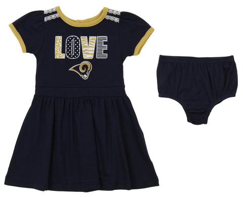 Baby & Toddler Clothing Outerstuff Nfl Infant Girls Los Angeles Chargers Assorted 3 Pack Creeper Set