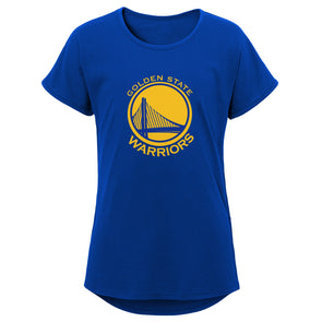 NBA by Outerstuff NBA Youth Girls Primary Logo Short Sleeve Dolman Tee