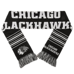 Forever Collectibles NHL Chicago Blackhawks 2 Sided Knit Wordmark Logo Scarf