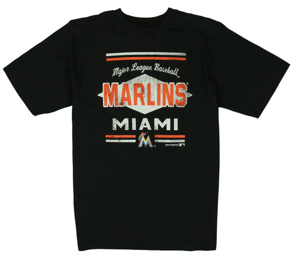 MLB Baseball Kids / Youth Miami Marlins Tee Shirt - Black