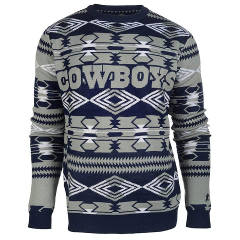 76b36368c92 Forever Collectibles NFL Men s Dallas Cowboys 2015 Aztec Ugly Sweater