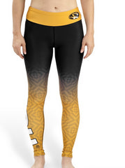 NCAA Women's Missouri Tigers Gradient Print Leggings, Black