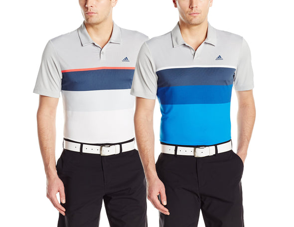 Adidas Golf Men's Climacool Engineered Stripe Polo Shirt, Color Options