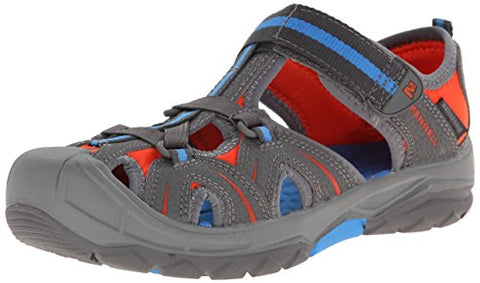 Merrell Big Kids Youth Hydro Hiker Athletic Walking Sandal Shoes, Grey
