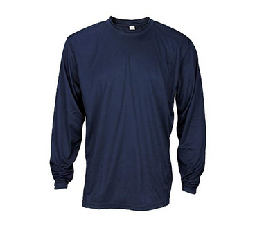 Men's Athletic Long Sleeve Shirt, Navy