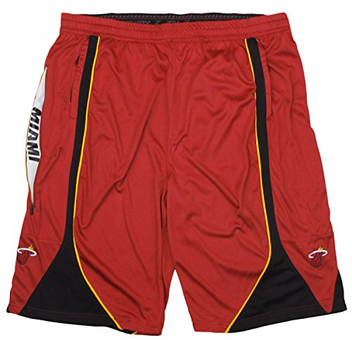 Zipway NBA Men's Big & Tall Miami Heat Team Basketball Shorts, Red