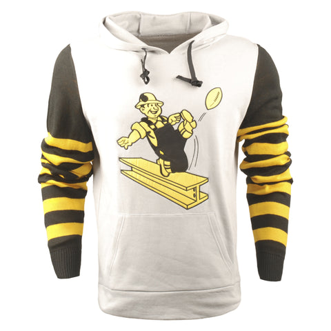 FOCO NFL Men's Pittsburgh Steelers Retro Knit Sleeve Hooded Sweater