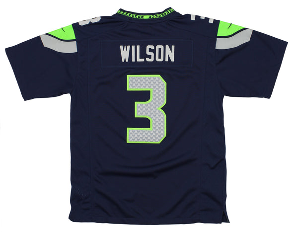 Nike NFL Youth (8-20) Seattle Seahawks Russell Wilson #3 Game Day Jersey