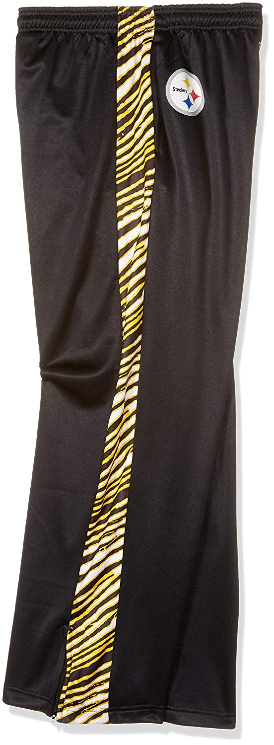 Zubaz NFL Men's Pittsburgh Steelers Zebra Accent NFL Stadium Pants