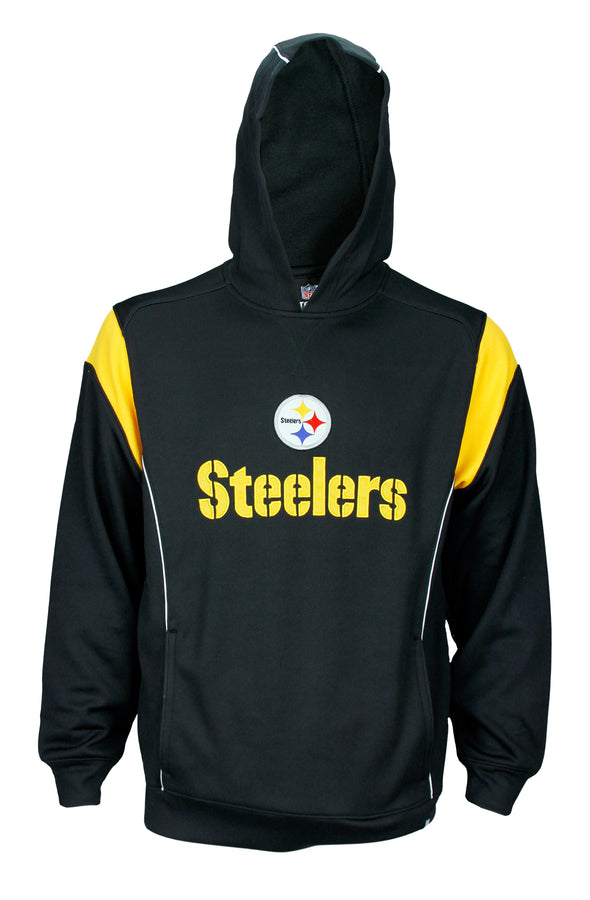 Reebok Mens NFL Football Pittsburgh Steelers Hoodie Hooded Sweatshirt, Black