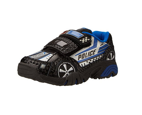 Stride Rite Little Kids Vroomz Light-Up Police Car Running Shoe