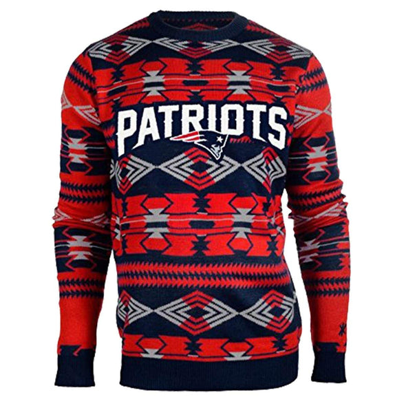 Forever Collectibles NFL Men's New England Patriots 2015 Aztec Ugly Sweater