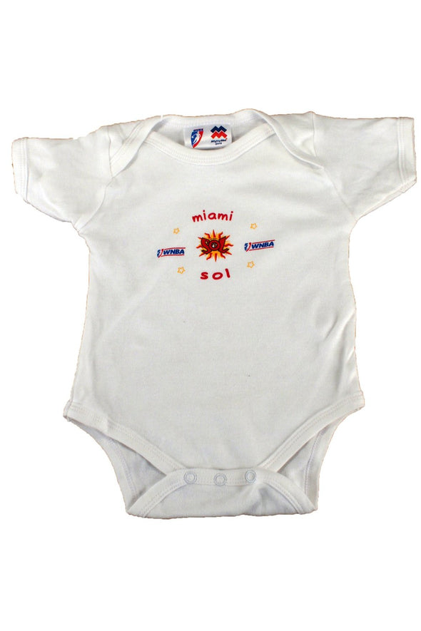 WNBA Basketball Miami Sol Three Piece Newborn Gift Set