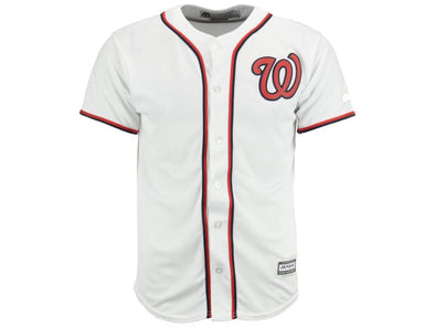 Majestic MLB Youth Washington Nationals White Home Cool Base Jersey