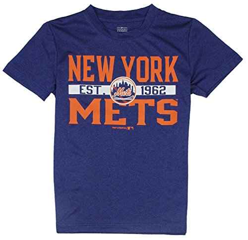 MLB Little Kids / Youth New York Mets Short Sleeve Athletic Tee T-Shirt, Blue