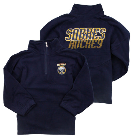 Reebok NHL Little Kids Buffalo Sabres The Flux 1/4 Zip Pullover Sweater, Navy