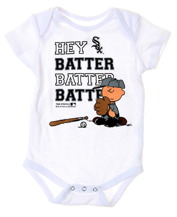 MLB Infants Chicago White Sox Peanuts Love Baseball Creeper, White