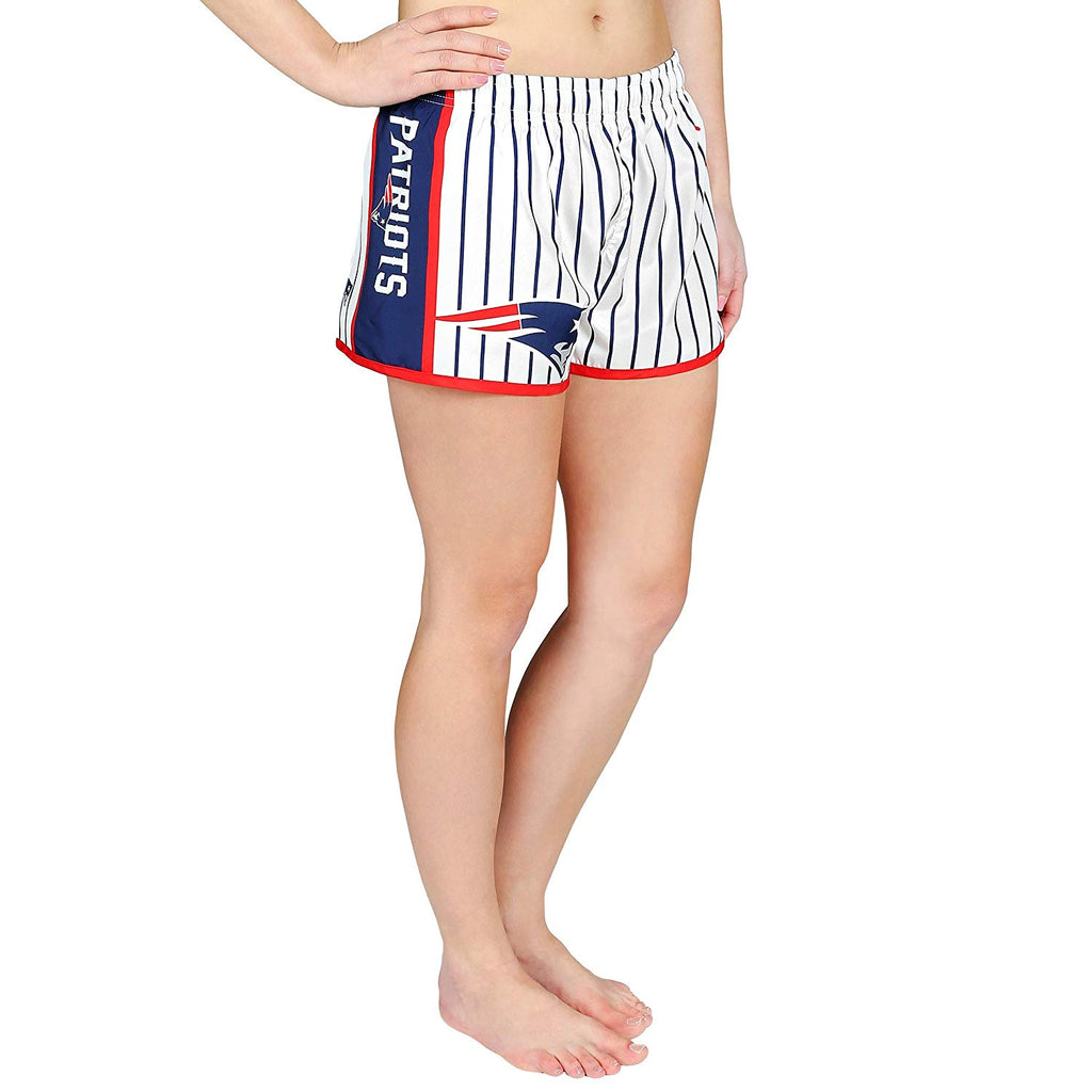 59ed59972861 Forever Collectibles NFL Women's New England Patriots Pinstripe Shorts