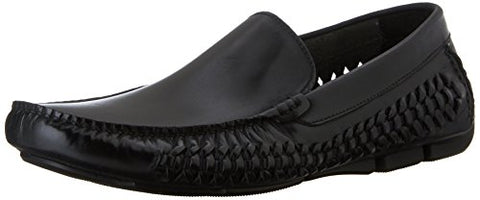 Kenneth Cole New York Men's Theme Park Leather Woven Driver Loafers, 2 Colors