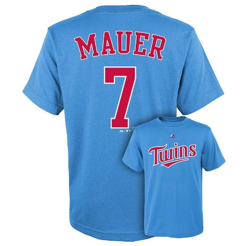 e97588f87ca Majestic MLB Youth Minnesota Twins Joe Mauer #7 Player Tee – Fanletic