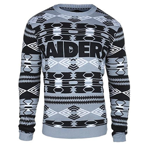 b0e6370571 Forever Collectibles NFL Men s Oakland Raiders 2015 Aztec Ugly Sweater