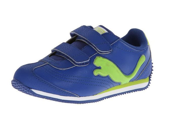 Puma Infant/Toddler Speeder Illuminescent V Light Up Sneaker Shoes - Blue & Gray