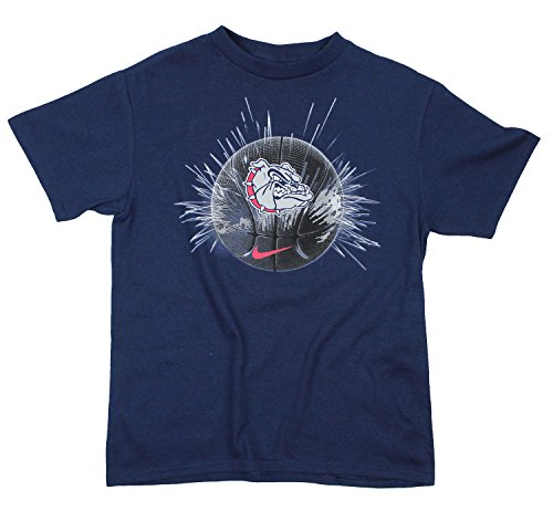 Nike  NCAA Youth Boys Gonzaga Bulldogs The Ball Tee Top Shirt, Navy