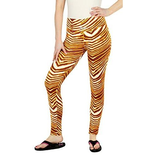 Zubaz NFL Women's Washington Redskins Team Color Tiger Print Leggings Pants