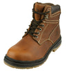 Arizona Cardinals NFL Men's Steel Toe Lace Up Leather Work Boots - Brown