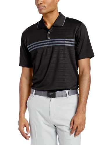Adidas Golf Men's TaylorMade Puremotion Climacool 3-Stripes Short Sleeve Polo