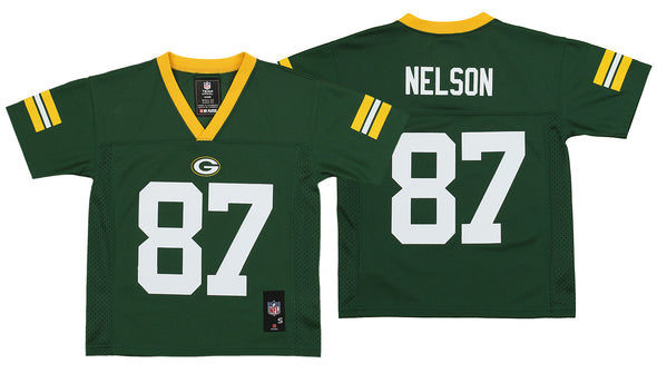 Outerstuff NFL Kids Green Bay Packers Jordy Nelson #87 Mid Tier Jersey, Green
