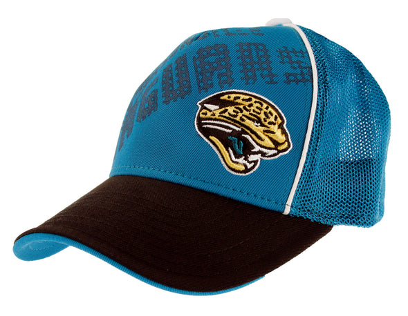 Jacksonville Jaguars NFL Youth Structured Flex Mesh Back Cap Hat (BOYS 8-20)
