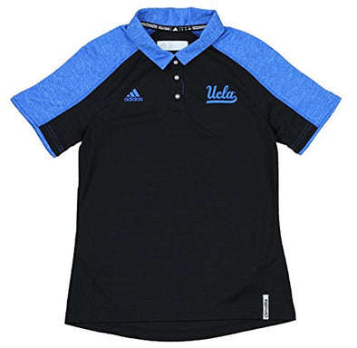 Adidas NCAA Women's UCLA Bruins Climalite Coaches Polo, Black/ Blue