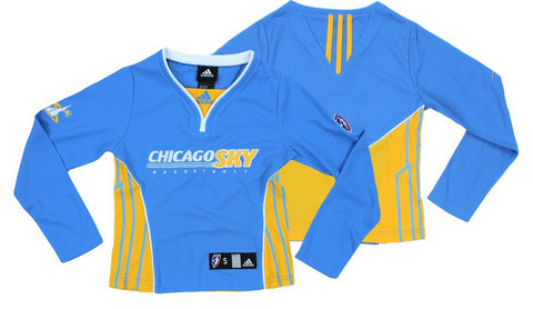 WNBA Youth Chicago Sky Long Sleeve Shooting Shirt Top 910d67dd2
