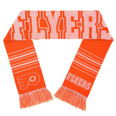 Forever Collectibles NHL Philadelphia Flyers 2 Sided Knit Wordmark Logo Scarf