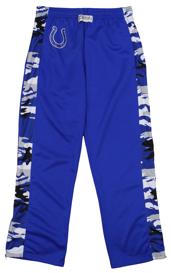 Zubaz Men's NFL Indianapolis Colts Camo Print Stadium Pants