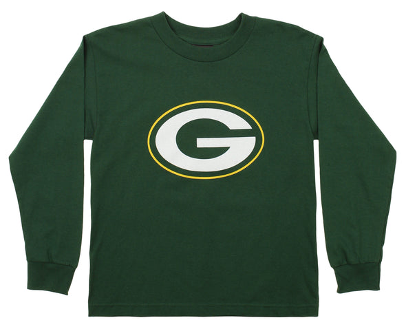 OuterStuff NFL Youth Green Bay Packers Primary Logo Long Sleeve Tee