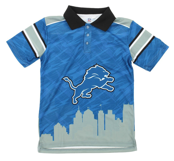 NFL Youth Detroit Lions City Poly Polo, Blue