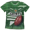 New Orleans Saints TOUCHDOWN NFL Youth T-shirt Shirt, Green
